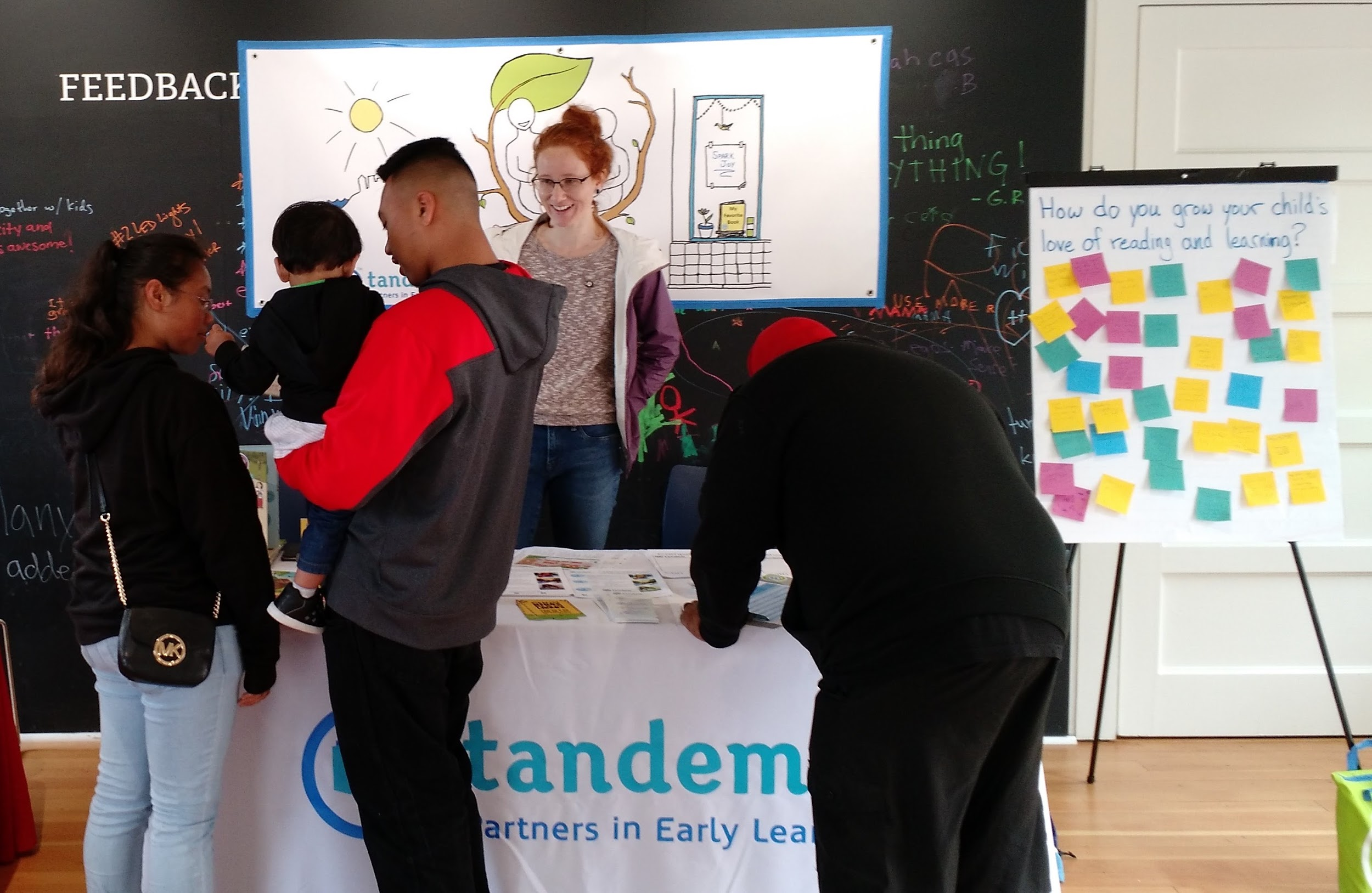 Tandem's Programs team often goes to community events to help raise awareness for our organization and our mission. This way we can engage families that we may not otherwise reach through preschools or daycare sites.